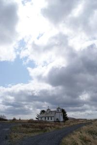 The sky above Akhiok's church
