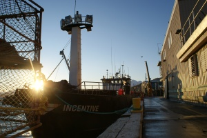 """Photo of the F/V Incentive, featured on the 2009 """"Deadliest Catch"""" season"""