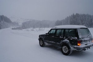My Jeep in the snow
