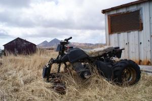 Broken four-wheeler