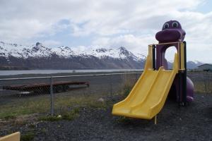 Alaska's most scenic dinosaur slide?