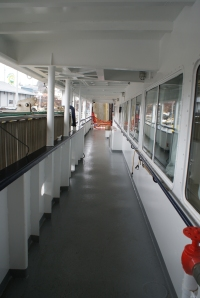 Deck of the M/V Tustumena, one of two state ferries to Kodiak