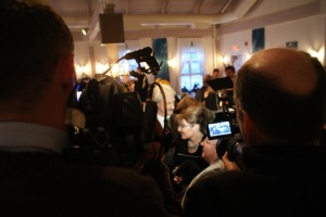 Me (the media) covering the media covering Gov. Sarah Palin