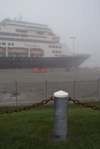 The 780-foot Volendam, owned by Holland America, docked at Pier II in Kodiak