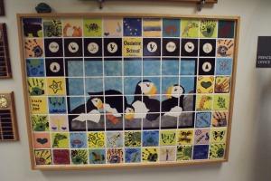 Ouzinkie School tile mural