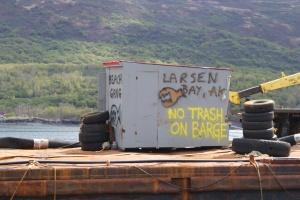 One of the docks at Larsen Bay