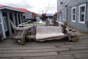 Interesting bench at Icicle Seafoods