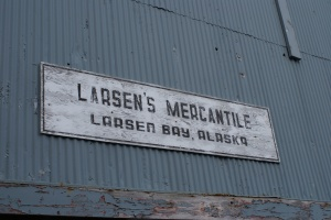 Larsen Bay's soul store, open only with the cannery is operating seasonally