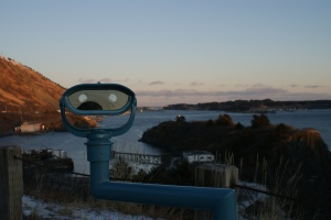 View of downtown Kodiak from the Rotary Overlook - Taken Dec. 31, 2008
