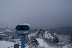 Same view from the Rotary Overlook, but with late-March heavy snowfall